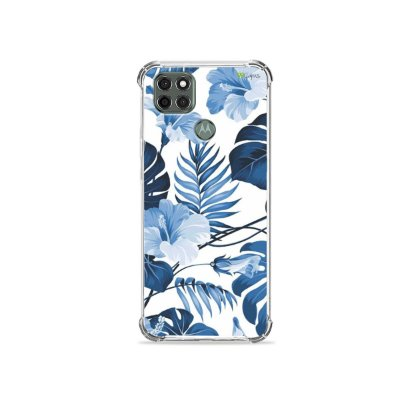 Capa para Moto G9 Power - Flowers in Blue