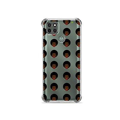 Capa (Transparente) para Moto G9 Power - Black Girls