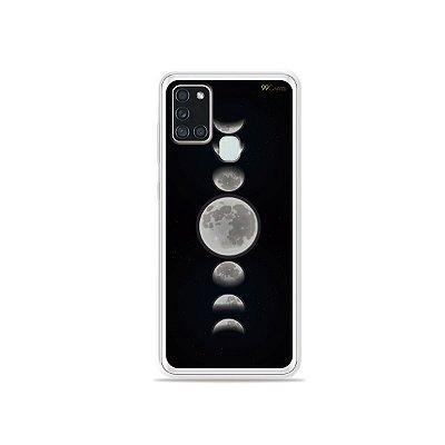 Capa para Galaxy A21s - Fases da Lua