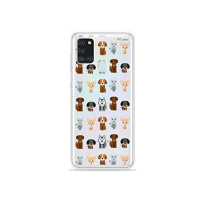 Capa (Transparente) para Galaxy A21s - Doguinhos
