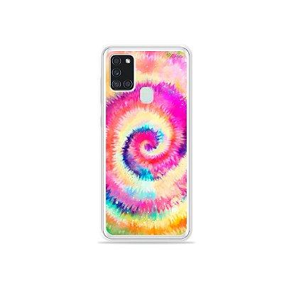 Capa para Galaxy A21s - Tie Dye