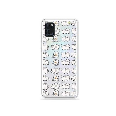 Capa (Transparente) para Galaxy A21s - Lazy Cat