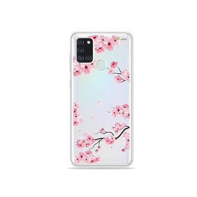Capa (Transparente) para Galaxy A21s - Cerejeiras