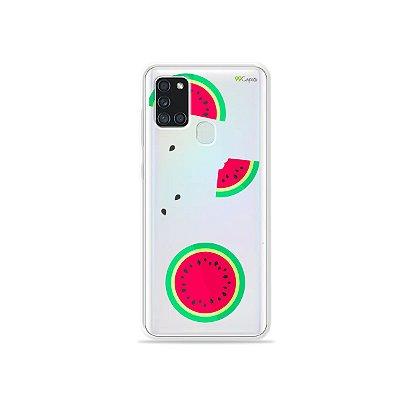 Capa (Transparente) para Galaxy A21s - Melancias