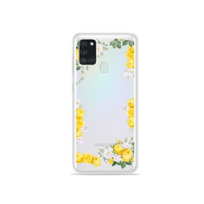 Capa (Transparente) para Galaxy A21s - Yellow Roses