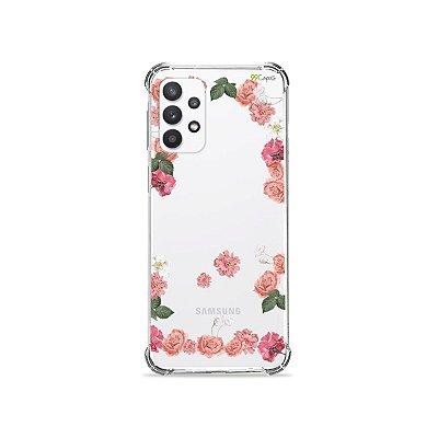 Capa (Transparente) para Galaxy A32 4G - Pink Roses