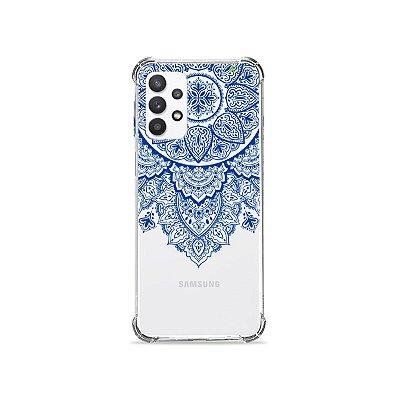Capa (Transparente) para Galaxy A32 4G - Mandala Azul