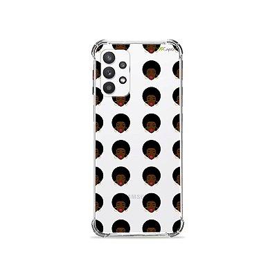 Capa (Transparente) para Galaxy A32 4G - Black Girl
