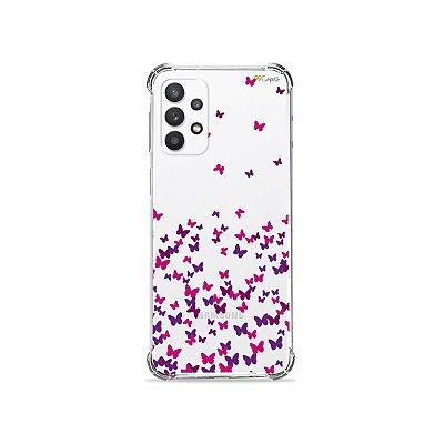 Capa (Transparente) para Galaxy A52 - Borboletas Flutuantes