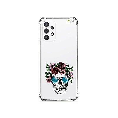 Capa (Transparente) para Galaxy A52 - Caveira