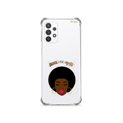 Capa (Transparente) para Galaxy A52 - Black Lives