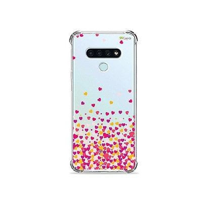 Capinha para LG K71 - Corações Rosa