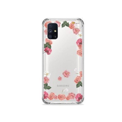 Capa (Transparente) para Galaxy M51 - Pink Roses