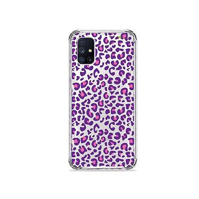 Capa (Transparente) para Galaxy M51 - Animal Print Purple