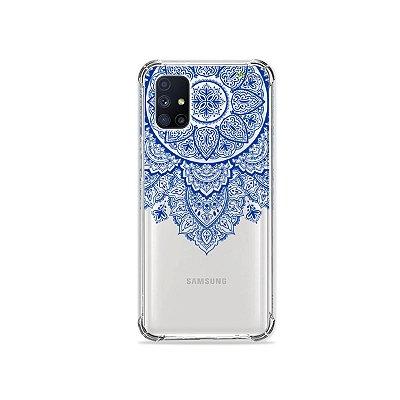 Capa (Transparente) para Galaxy M51 - Mandala Azul