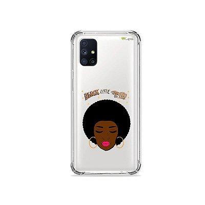 Capa (Transparente) para Galaxy M51 - Black Lives