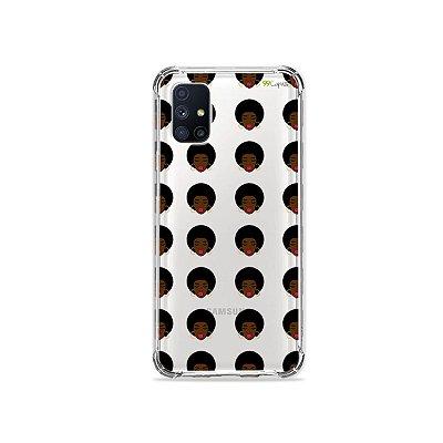 Capa (Transparente) para Galaxy M51 - Black Girl