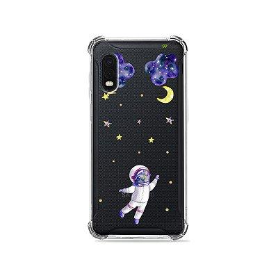 Capa (Transparente) para Galaxy XCover Pro - Astronauta Sonhador