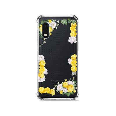 Capa (Transparente) para Galaxy XCover Pro - Yellow Roses