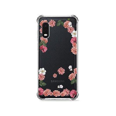 Capa (Transparente) para Galaxy XCover Pro - Pink Roses