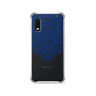 Capa (Transparente) para Galaxy XCover Pro - Mandala Azul
