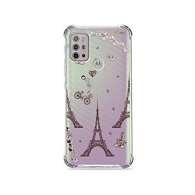 Capa (Transparente) para Moto G10 - Paris
