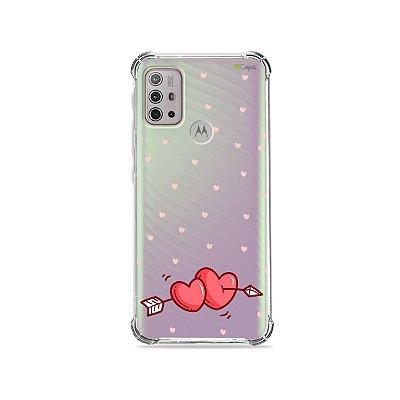 Capa (Transparente) para Moto G10 - In Love
