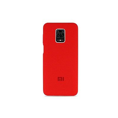 Silicone Case Vermelha para Redmi Note 9 Pro (Aveludada)