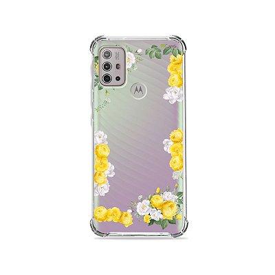 Capa (Transparente) para Moto G10 - Yellow Roses