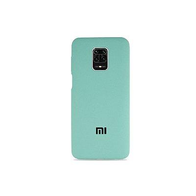 Silicone Case Verde Água para Redmi Note 9S (Aveludada)