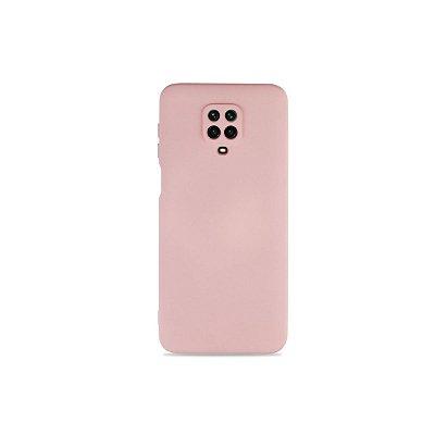 Silicone Case Nude para Redmi Note 9S (com proteção na câmera)