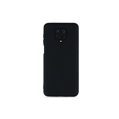 Silicone Case Preta para Redmi Note 9 Pro (com proteção na câmera)