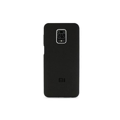 Silicone Case Preta para Redmi Note 9 Pro (Aveludada)