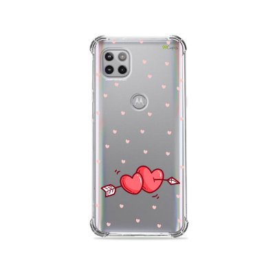 Capa (Transparente) para Moto G 5G - In Love