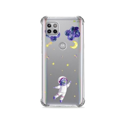 Capa (Transparente) para Moto G 5G - Astronauta Sonhador