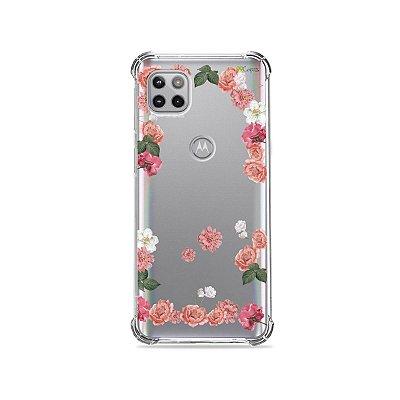 Capa (Transparente) para Moto G 5G - Pink Roses