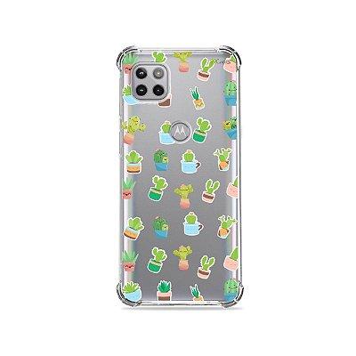 Capa (Transparente) para Moto G 5G - Cactus
