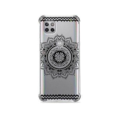 Capa (Transparente) para Moto G 5G - Mandala Preta