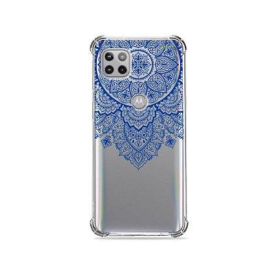 Capa (Transparente) para Moto G 5G - Mandala Azul