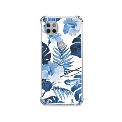 Capa para Moto G 5G - Flowers in Blue