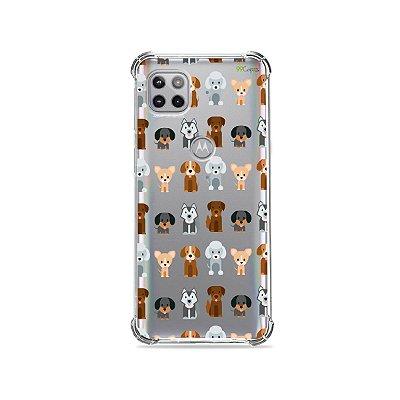 Capa (Transparente) para Moto G 5G - Doguinhos