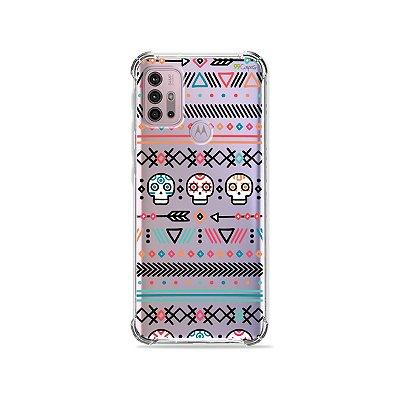 Capa (Transparente) para Moto G30 - Tribal