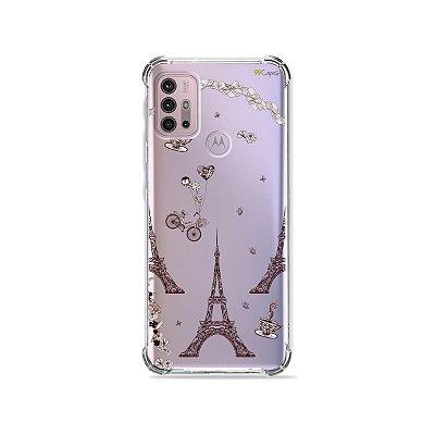 Capa (Transparente) para Moto G30 - Paris