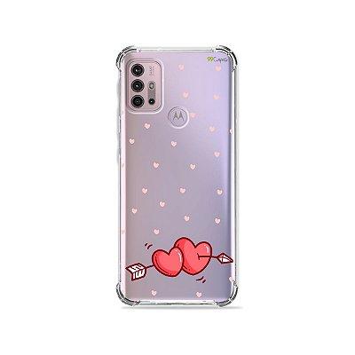 Capa (Transparente) para Moto G30 - In Love