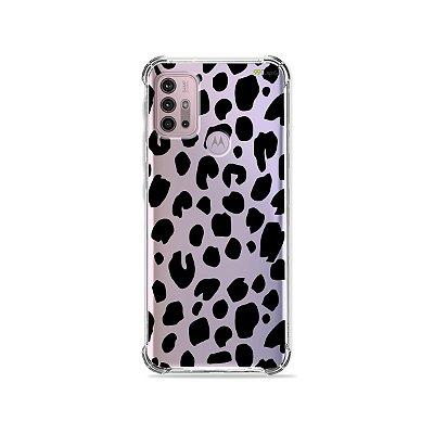 Capa (Transparente) para Moto G30 - Animal Print Basic