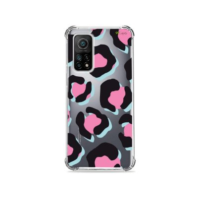Capa (Transparente) para Xiaomi Mi 10T Pro - Animal Print Black & Pink