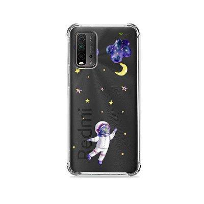 Capa (Transparente) para Redmi 9T - Astronauta Sonhador