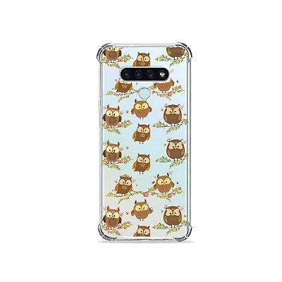 Capa (Transparente) para LG K71 - Corujinhas