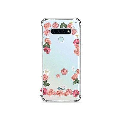 Capa (Transparente) para LG K71 - Pink Roses