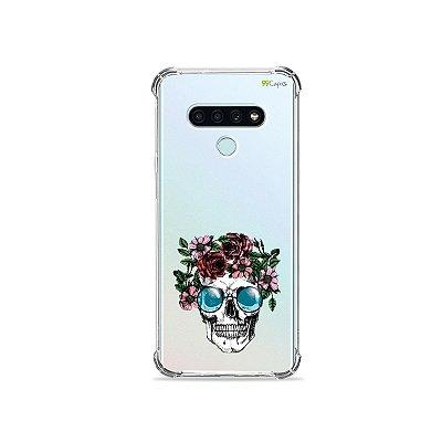 Capa (Transparente) para LG K71 - Caveira